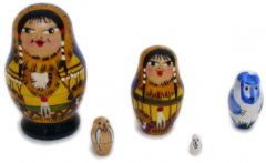 People of the North Tiny Russian Matryoshka