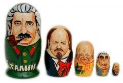 Russian Presidents 5 pc Matryoshka