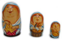 Chef - Cook 3 pc Russian Nesting Dolls