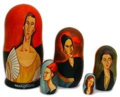 Modigliani Woman with a Fan 5 pc Matryoshka