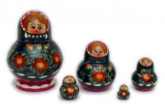 Poppy Flowers Russian Dolls