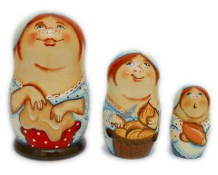 Baker 3 pc Matryoshka