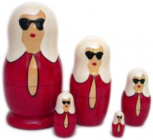 Fashion Red Modern Babushka Dolls