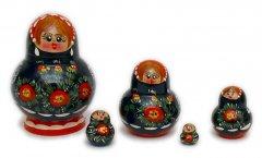 Poppy Flowers Nesting Dolls