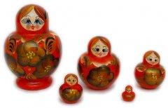 Khokhloma Babushka Dolls