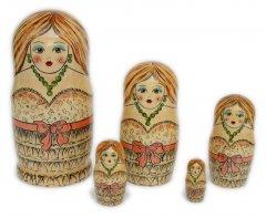 Fashion Long Hair Modern Babushka Dolls